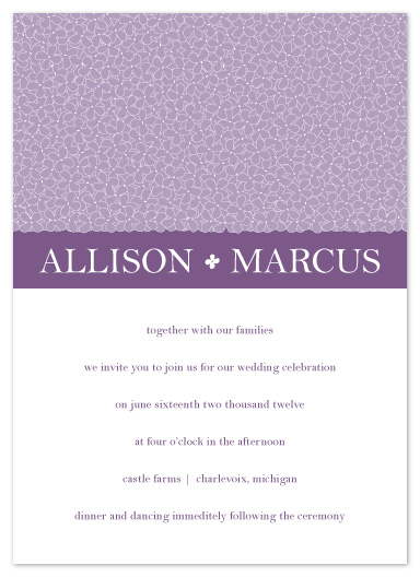 wedding invitations - Hydrangea Collection by Emily Ford