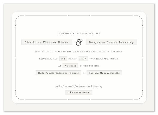 wedding invitations - Dapper by Alston Wise