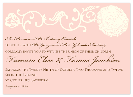 wedding invitations - Blushing Bloom by Aisle Say Wedding Papers by Graphix Blue LLC