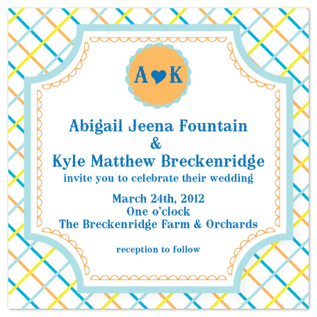 wedding invitations - Pretty in Plaid by Aisle Say Wedding Papers by Graphix Blue LLC