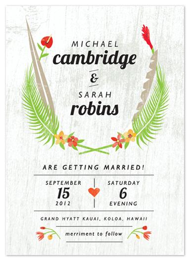 wedding invitations - Tropical Fare by Yolanda Mariak Chendak