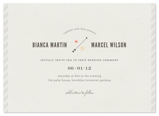 wedding invitations - newsprint by nocciola design