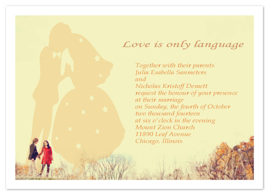 wedding invitations - love is only language by cara cheng