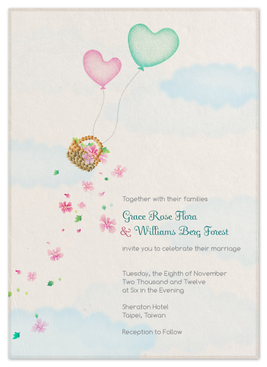 wedding invitations - Flying Hearts by Duha