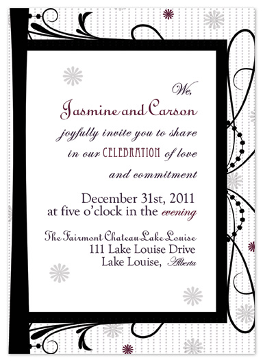 wedding invitations - New Years Eve Knockout by My Sweetie Pie