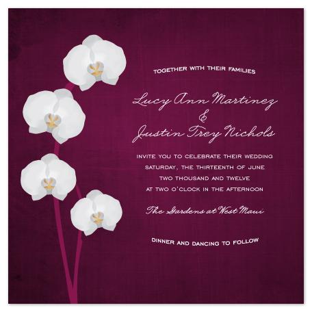 wedding invitations - Royal Orchid by Wendy Van Ryn