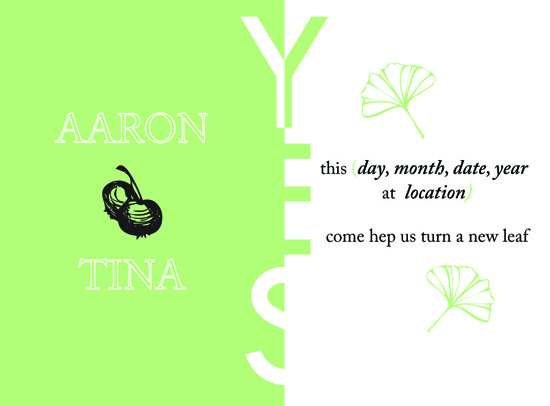 wedding invitations - A new Leaf by NNGdesign