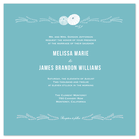 wedding invitations - By the Sea by Phoebe Wong-Oliveros