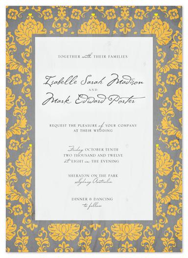 wedding invitations - Chic Damask  by Rachel Mense