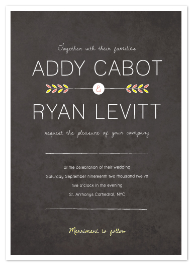 wedding invitations - Shooting arrow by Stacey Meacham