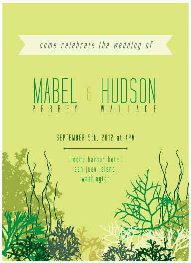 wedding invitations - Kelp Dreams by Emma Hess Design