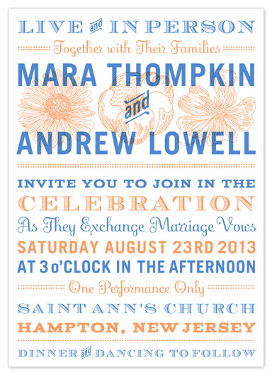 wedding invitations - big big show by campbell and co.