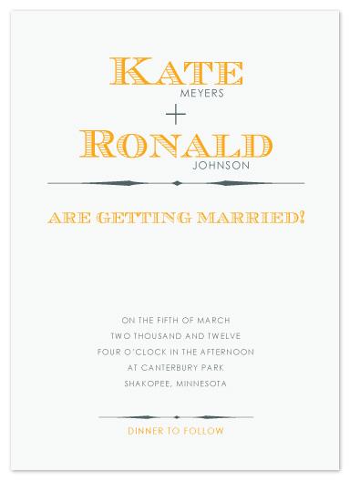 wedding invitations - Lines by Jen Wawrzyniak