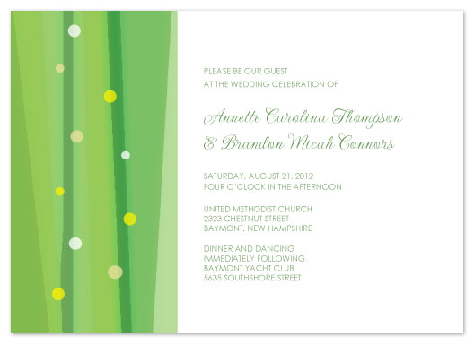 wedding invitations - Dream in Green by Jenn Johnson
