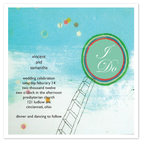 wedding invitations - I'd climb the tallest ladder for you by Annada Hypes