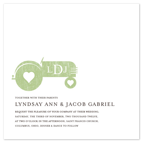wedding invitations - Tractor Love by Katie Speelman