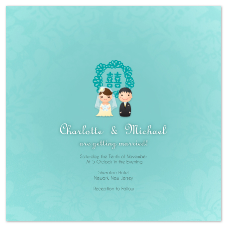 wedding invitations - United Happiness by Duha