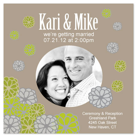wedding invitations - Floating Flowers by Jenn Johnson