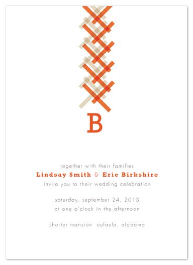 wedding invitations - Braid by Courtnie Johnson