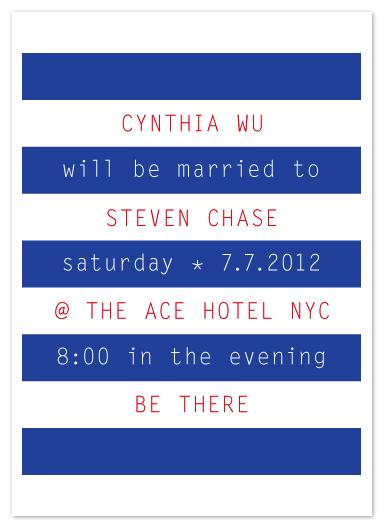 wedding invitations - so stripe by Precious Bugarin Design