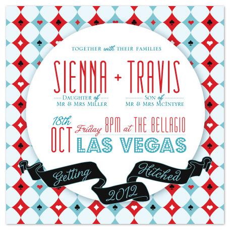 wedding invitations - Vegas Harlequin by Rachel Mense