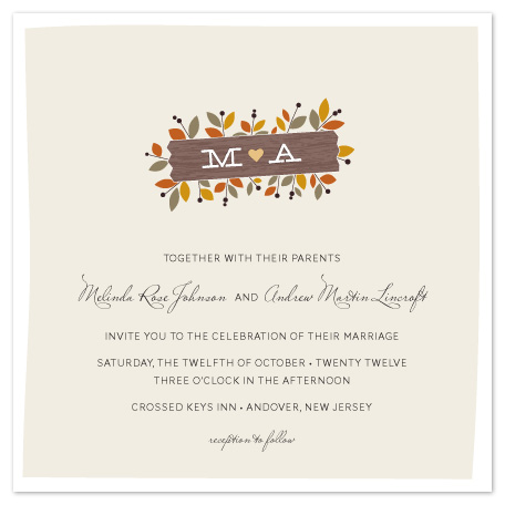 wedding invitations - Meadow by Sandra Picco Design