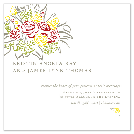 wedding invitations - Throw the Bouquet by Katherine Morgan