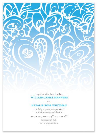 wedding invitations - Falling Hearts by ArtSplott