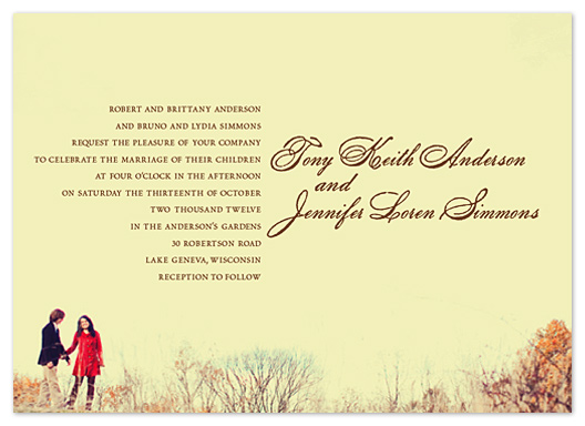 wedding invitations - Simple Landscape by - Keg Design -