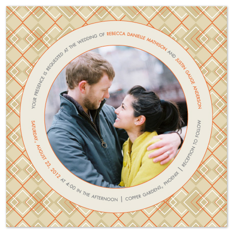 wedding invitations - Modern Argyle by Wendy Van Ryn