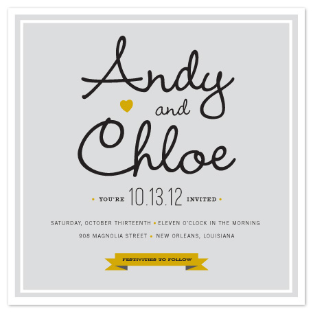 wedding invitations - modern script by Sara Hicks Malone