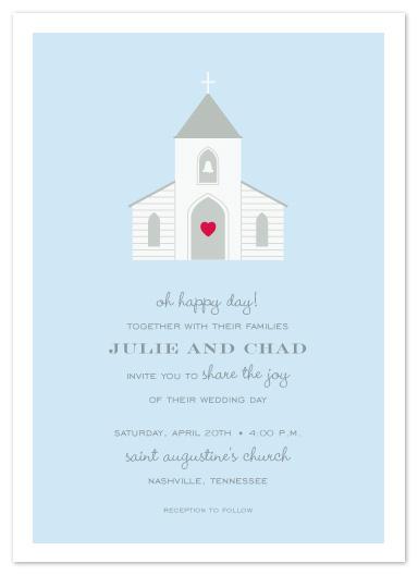 wedding invitations - chapel of love by Sara Hicks Malone