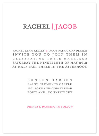 wedding invitations - modern Text by Dana Wyatt