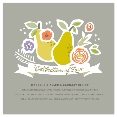 wedding invitations - Celebration of Love by Griffinbell Paper Co.