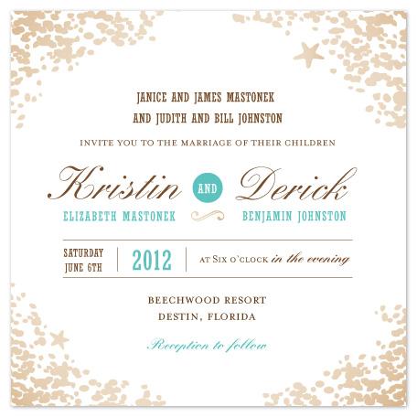 wedding invitations - Sweet Sands by Melissa Albers