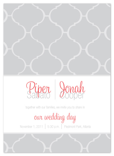 wedding invitations - Fancy Tile by Ashley Ottinger