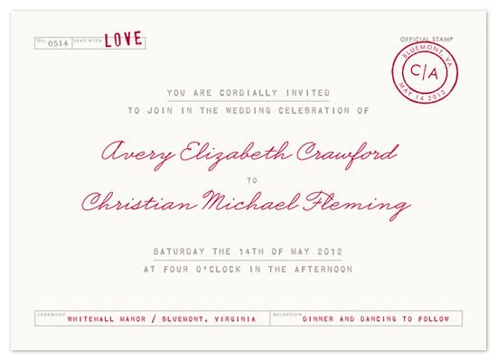 wedding invitations - telegram by The Social Type