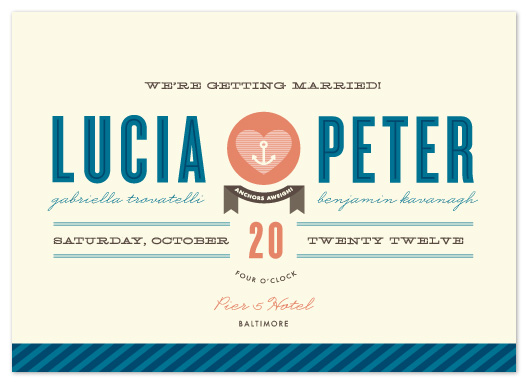 wedding invitations - Maritime Stripe by Olivia Raufman