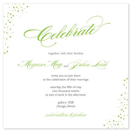 wedding invitations - Confetti Celebration by Courtney Callahan
