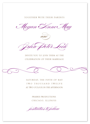 wedding invitations - Flourished Elegance by Courtney Callahan