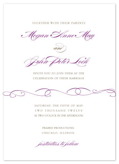wedding invitations - Flourished Elegance by Courtney Callahan