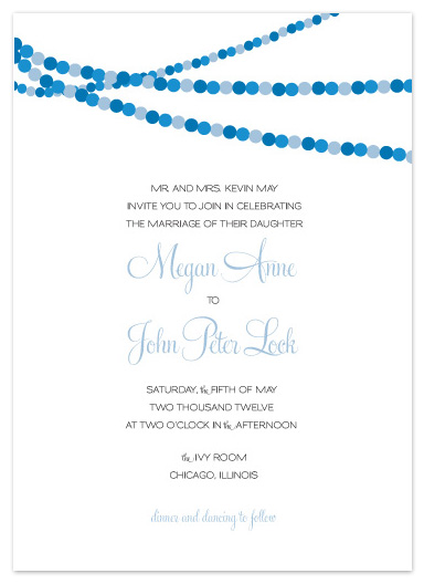 wedding invitations - Dotted Garland by Courtney Callahan