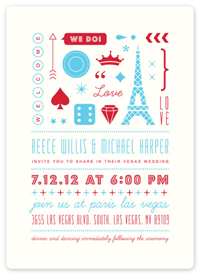 wedding invitations - Bet on Love by hey paper moon