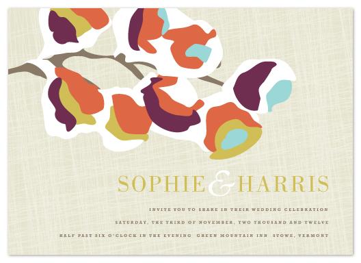 wedding invitations - Autumn Snow by Kristie Kern