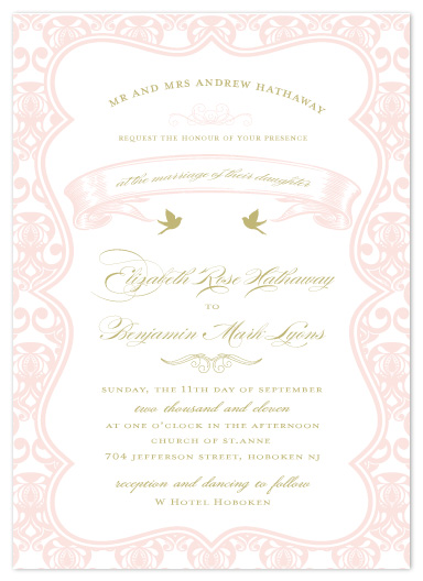 wedding invitations - Birds of a Feather by Feather and Ink
