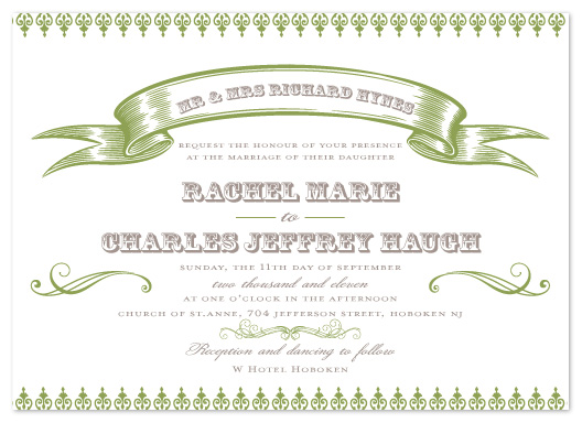 wedding invitations - Filigree by Feather and Ink