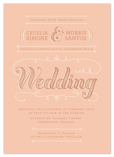 wedding invitations peaches cream at minted com