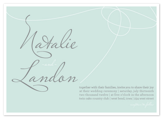 wedding invitations - Scripted Name Tie by AJCreative