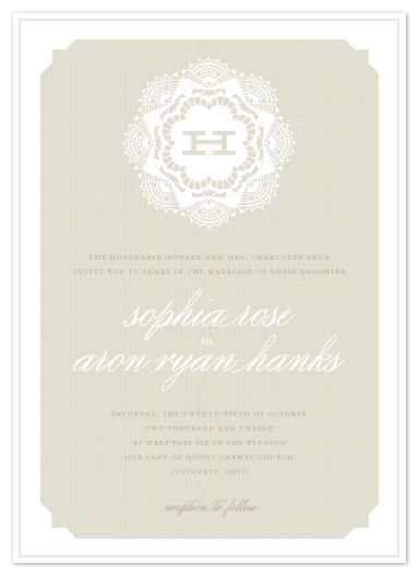 wedding invitations - Grand Lace by Carrie ONeal