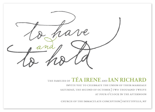 wedding invitations - hold on by R studio